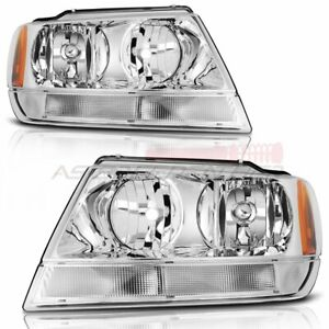 For 1999 2004 Jeep Grand Cherokee Headlights Replacement Assembly Front Headlamp