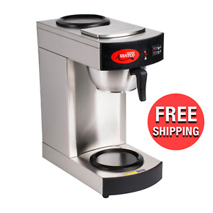 Avantco C10 12 Cup Pourover Commercial Hot Coffee Maker With 2 Warmers 120v New