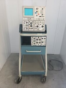 Tektronix 7844 Dual beam Oscilloscope Scope mobile Type 204 With Probes Cables