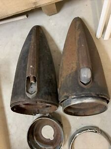 1942 1946 Chevy Truck Headlights Pair Buckets Headlight