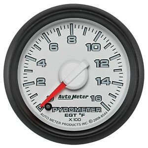 Autometer 8544 Pyrometer Egt Gauge With White Dial Face Fits Dodge Gen 3