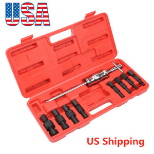 9pcs Blind Hole Bearing Puller Kit Slide Hammer Internal Extractor Removal Tool