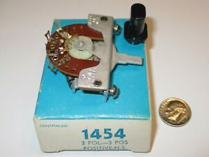 Centralab Vintage Lever Switch 2p 3 Pos Non Shorting P n 1454 1 Pc Nos