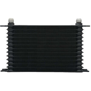 13 Row Plate 6an Black Aluminum Heavy Duty Engine Trans mission Oil Cooler Kit