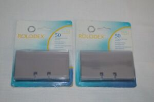 Lot Of 2 Rolodex 50 Transparent Card Protectors Sleeves 2 1 2 X 4 67650 New