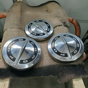 Ford Galaxie Fairlane Falcon Hubcaps Dog Dish Original 10 5 Inch