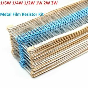 1 6w 1 4w 1 2w 1w 2w 3w Metal Film Resistor Kits 1 Assorted Component Kits