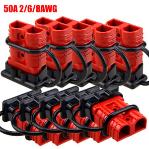10x 50a Car Battery Quick Connect Disconnect Winch Connector 4 6 Gauge Cable
