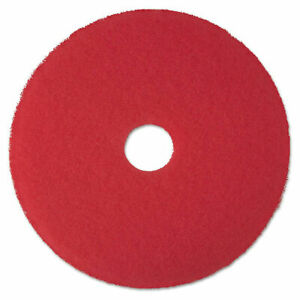 3m Low speed Buffer Floor Pads 5100 17 Diameter Red case Of 5 new Damaged Box