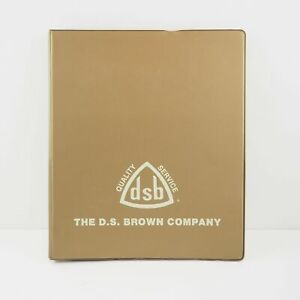 Vintage D s Brown Company 3 ring Binder Good Condition