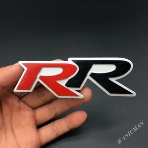 3d Metal Rr Car Trunk Rear Fender Emblem Badge Decal Sticker Trunk Rear Gift