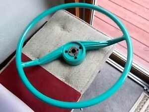 Vtg Oem Original Packard Steering Wheel Turquoise 55 56 Nos