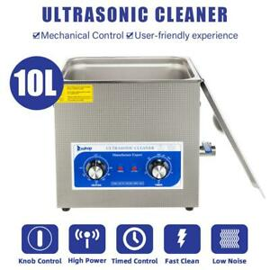 Stainless Steel Ultrasonic Cleaner Cleaning Machine 10l Ac 110v 60hz Powerful