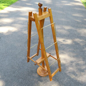 Vintage Abercrombie Fitch Retail Wood Display Stand Tiered Rack 49 Height