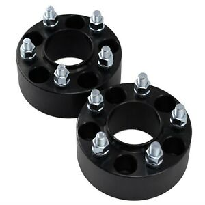 2x 2 Inch Hubcentric Wheel Spacers Fits Jeep Jk Wrangler Grand Cherokee Black
