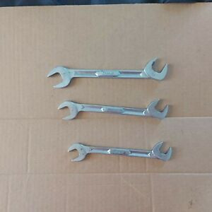 3pc Snap On 4 Way 30 60 Angle Wrenches Used Vs5220 Vs5218 Vs5216 Usa Chrome