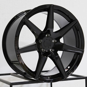 19x10 19x11 Rep Gt500 Style Fit Mustang 5x114 3 35 50 Black Wheels Rims Set 4