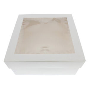 Spec101 Cake Boxes With Window 25 pack 12 X 12 X 6 Inch Bakery Boxes
