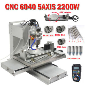 Cnc 6040 5axis Router 2 2kw Mach3 Usb Carving Engraving Milling For Aluminum Us