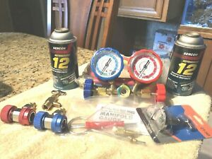 R12 Service Kit With R12 Manifold Gauge Conditioner And Tapper see Photos