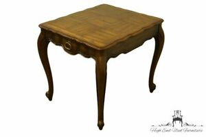 Weiman Furniture Country French Provincial 23x27 Accent End Table W Parquet