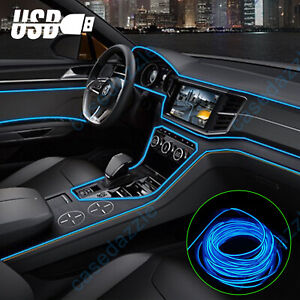 9 8ft Auto Car Interior Atmosphere Wire Strip Light Led Decor Lamp Accessories