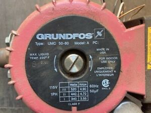 Grundfos Circulating Pump Working When Removed From Potable Hot Water Recirc