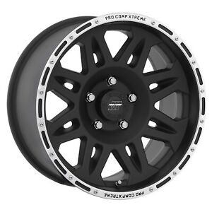 Pro Comp Alloy 7105 7973 Xtreme Alloys Series 7105 In Black Finish Universal