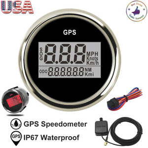 2 52mm Digital Gps Speedometer 0 999 Knot Odometer For Car Truck Boat Marine