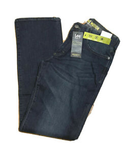 LEE EXTREME MOTION Jeans Regular Fit Bootcut Leg Stretch Flex Waist Cruz Blue $27.95