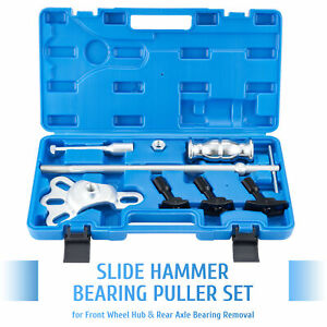 Omt 8pc Rear Axle Seal Bearing Remover Tool Kit Slide Hammer Set With Adapters