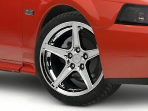 American Muscle Saleen Wheel In Chrome 19x8 5 Rim Fits Ford Mustang 1999 2004