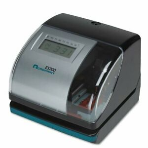 Acroprint Es700 Multi function Side Printing Time Recorder Card Punch stamp