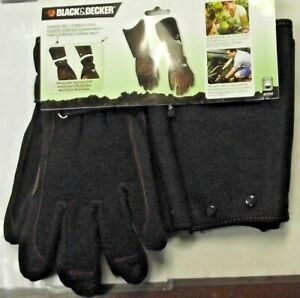 Black Decker Bd595 L xl Pro Gardener Hybrid Glove Utility Job Yard Safety