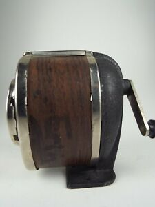 Vintage Boston Pencil Sharpener Wall Or Table Mount Wood Grain Classroom