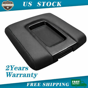 Leather Center Console Lid Armrest Cover For Silverado Chevy Gmc Sierra 2014 18