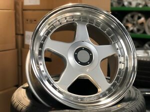 New 18 Inch Staggered Oz Futura Classic Design Rim Set Of 4 5x114 3