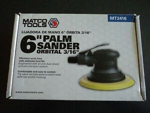 Matco Tools 6 Inch Orbital 3 16 Palm Sander Mt2416 Air Sander