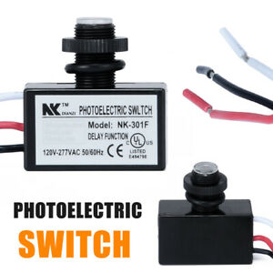 Ac80 277v Photoelectric Dusk To Dawn Button Photo Control Eye Switch Flush Mount