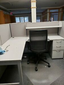 16 Used Office Cubicles By Ais Matrix Light Gray In Very Good Condition
