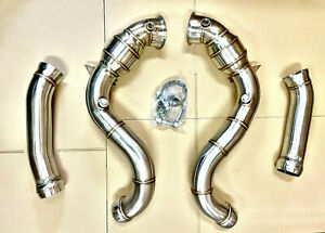 Downpipe Mercedes C63 Amg V8 W205 C205 Catless Stainless Steel Benz 2 75 C63s