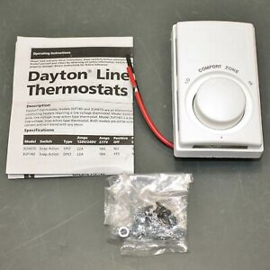 Dayton Electric Baseboard Heater Thermostat 3uh07 120 277vac Wall mount White
