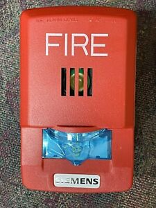 Siemens Fire Alarm S54329 f22 a1 Red Wall Mount Horn Strobe Emergency Safety