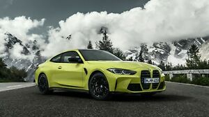2021 BMW M4 Competition Auto Car Silk Poster Print 24x36 inch $19.99