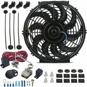 13 Inch 90w Electric Cooling Fan Adjustable Temperature Controller Switch Kit