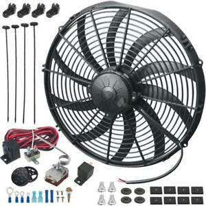 14 Inch 180w Electric Cooling Fan Adjustable Temperature Controller Switch Kit