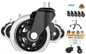 Universal Office Chair Caster Wheels Set Of 5 Heavy Duty Safe For All Floors