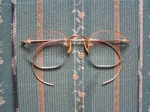 Vintage Coc Wire Rim 1 10 12t Gold Filled Bifocal Glasses Very Nice