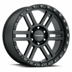 17x9 Vision 354 Manx2 6x5 5 6x139 7 12 Black Wheels Rims Set 4