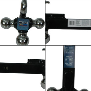 Reese Towpower 7031400 Tri ball Trailer Hitch Ball Mount W Heavy Duty Tow Hook
